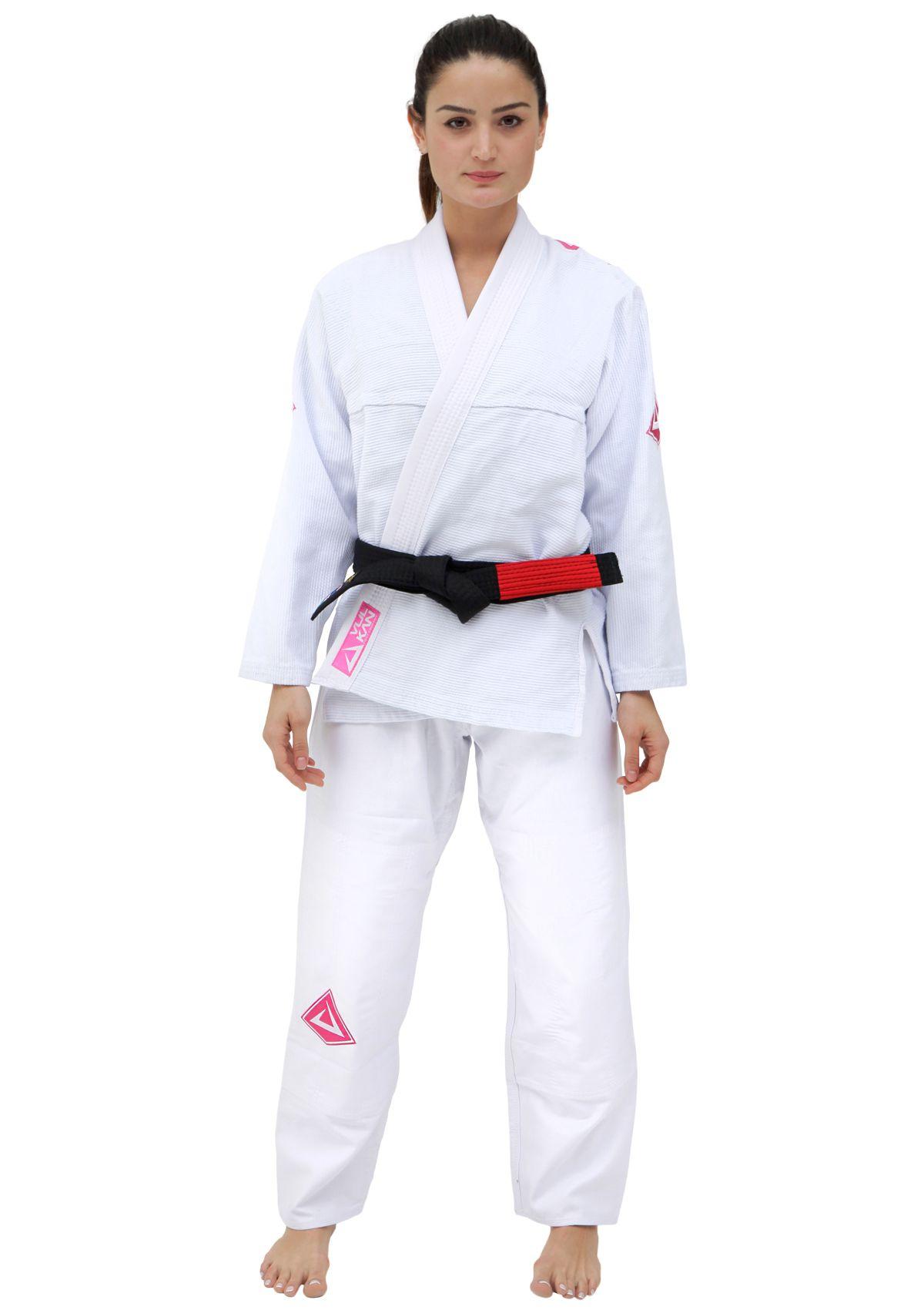 Kimono Vulkan Para Jiu-jitsu Profissional Adulto - VIPER PRO BRANCO FEMININO