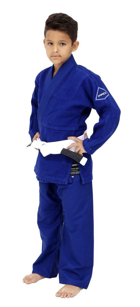 Kimono Vulkan Para Jiu-jitsu Profissional Infantil - Pro Evolution Azul Royal Masculino