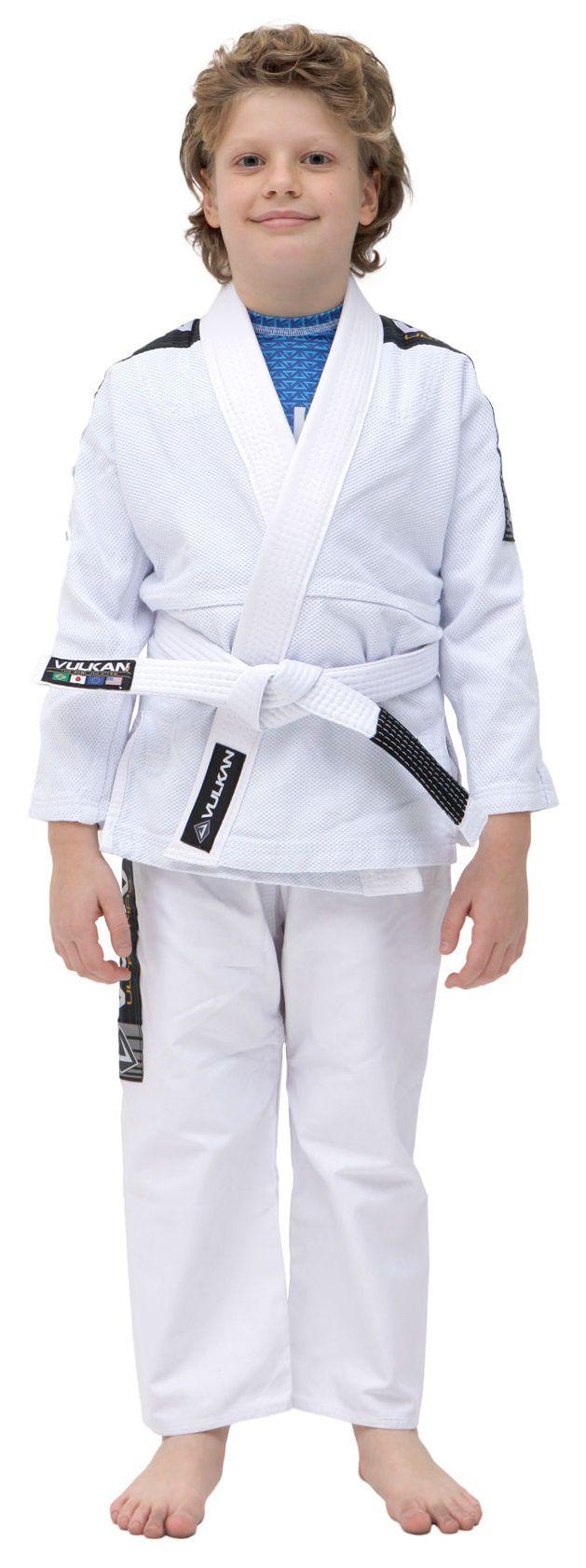 Kimono Vulkan Para Jiu-jitsu Profissional Infantil -  ULTRA LIGHT BRANCO