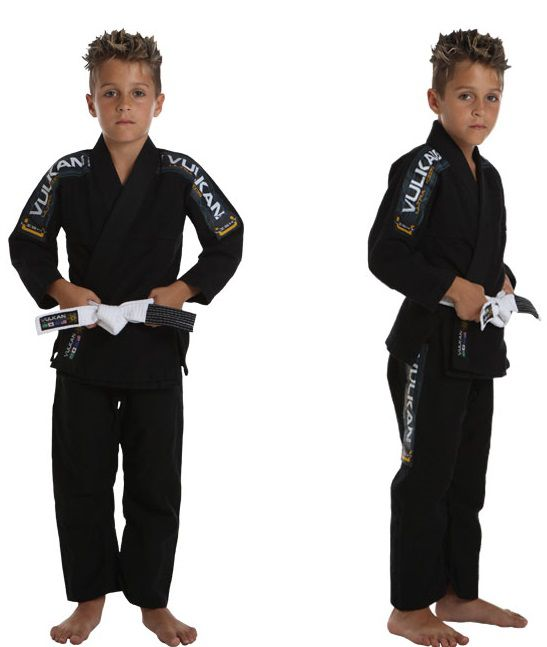 Kimono Vulkan Para Jiu-jitsu Profissional Infantil -  ULTRA LIGHT PRETO