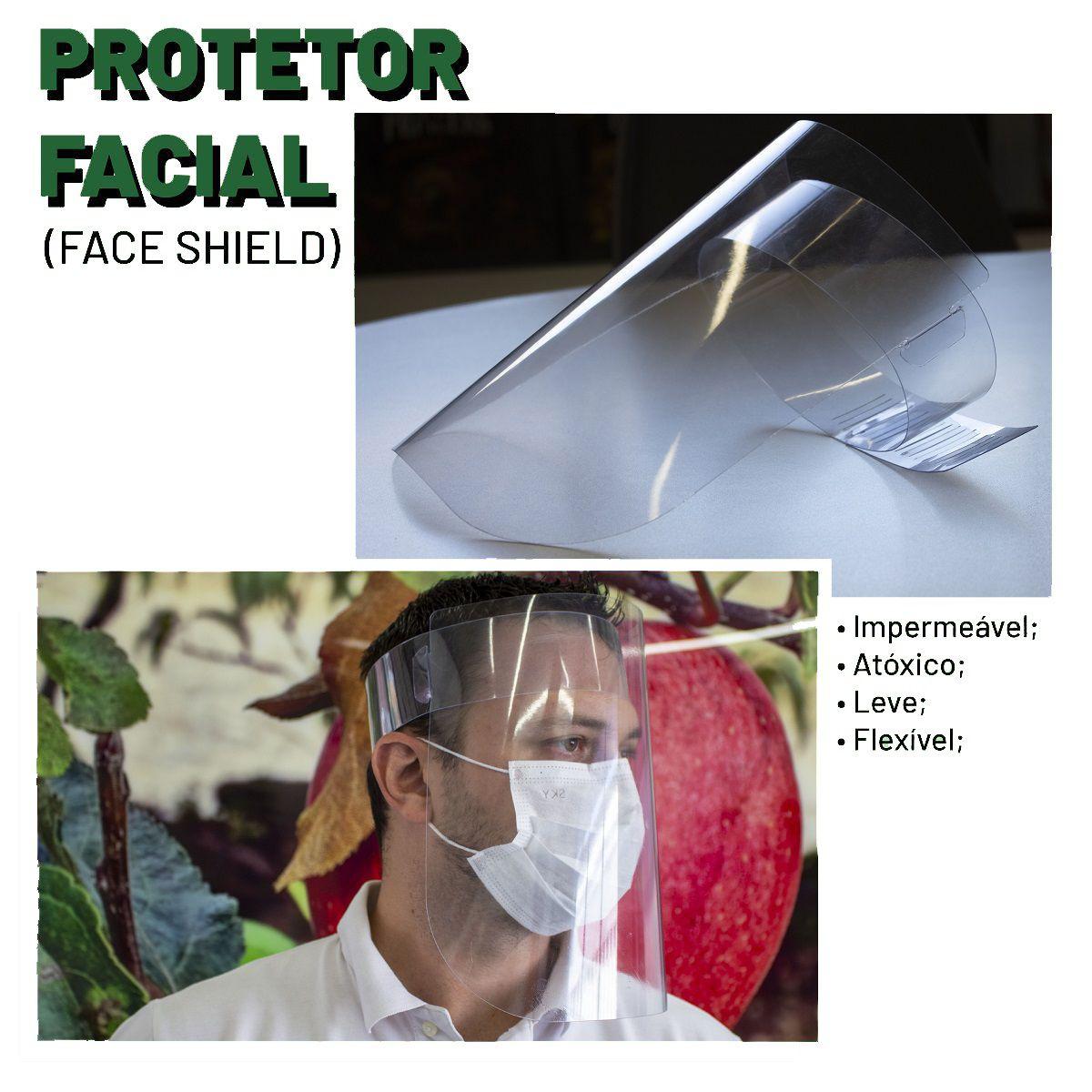 Kit 20x Máscaras De Proteção Facial Ajustável - Face Shield