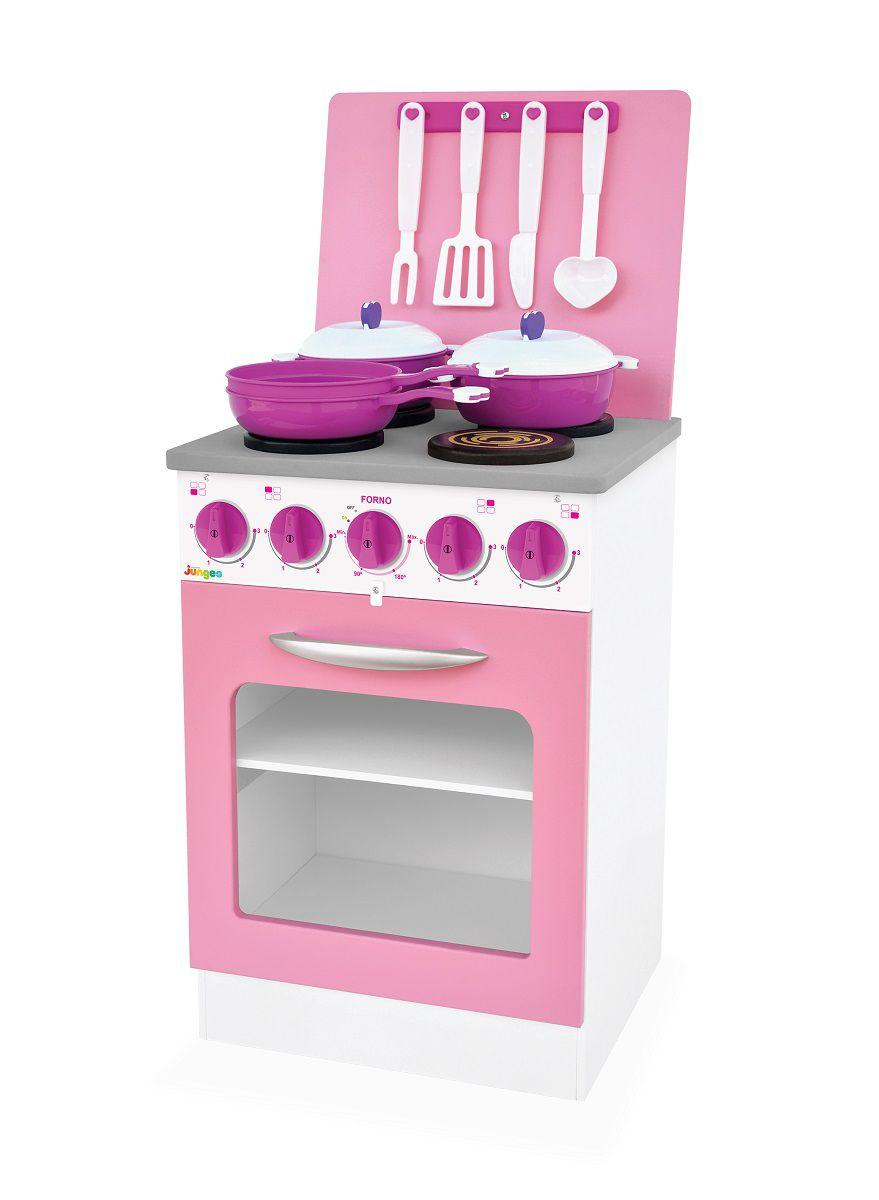 Kit 2 Fogão de Brinquedo Super Chef Rosa Junges