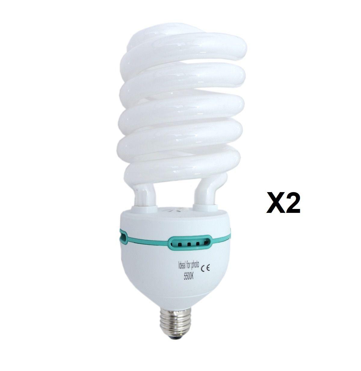 Kit 2 Lampada Para Foto Filmagem 150W 5500k - 220v