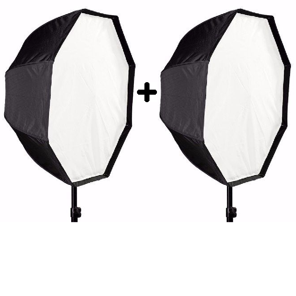 Kit 2 Softbox Universal Octabox 120cm Para Flashes E Luz Continua