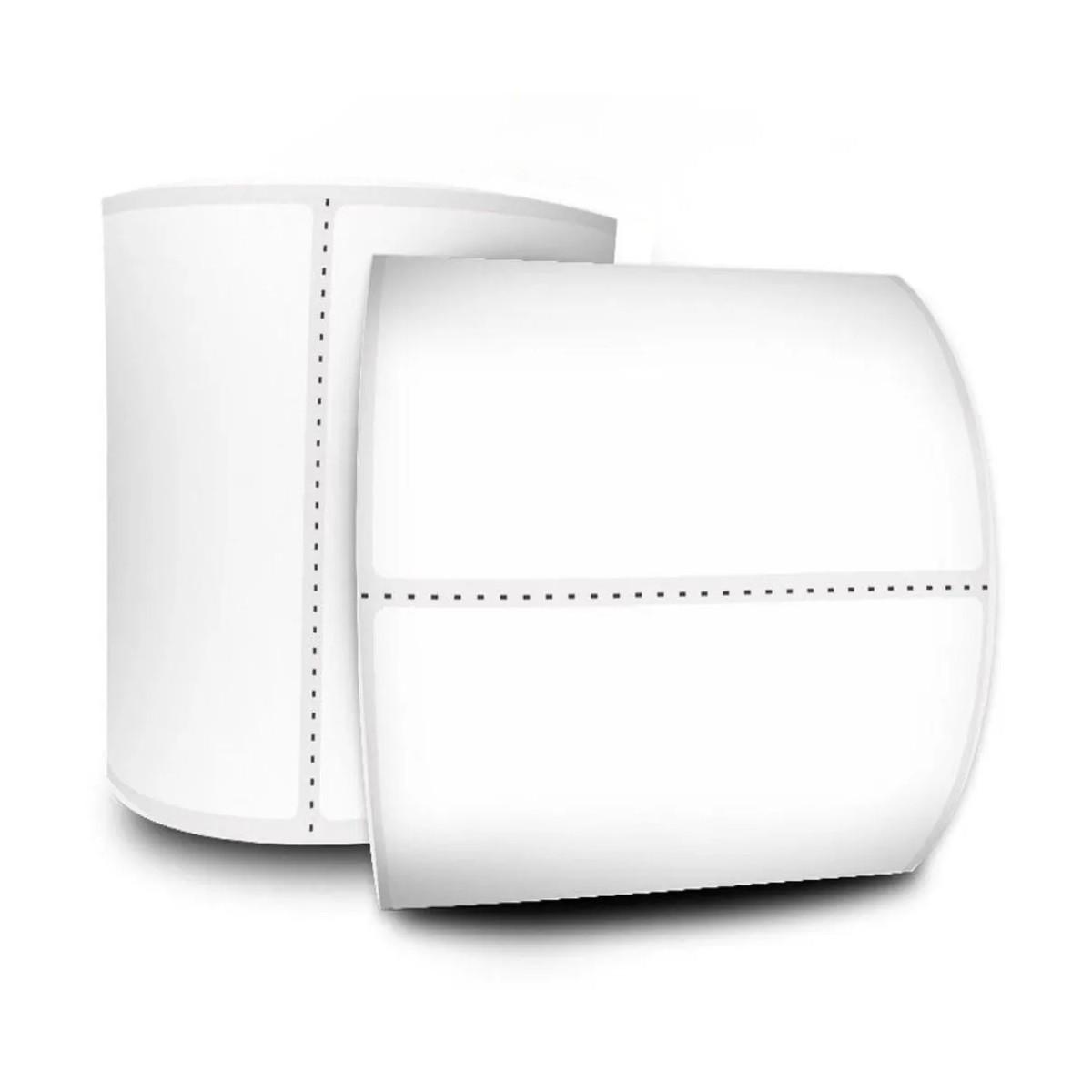 Kit 2x Etiqueta Branca Térmica com Adesivo Acrílico 100x150 250 etiquetas - P5181