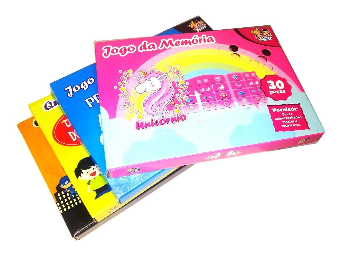 Kit 2x Jogo Da Memória 30 Peças E 2x Quebra-Cabeça 60 Peças