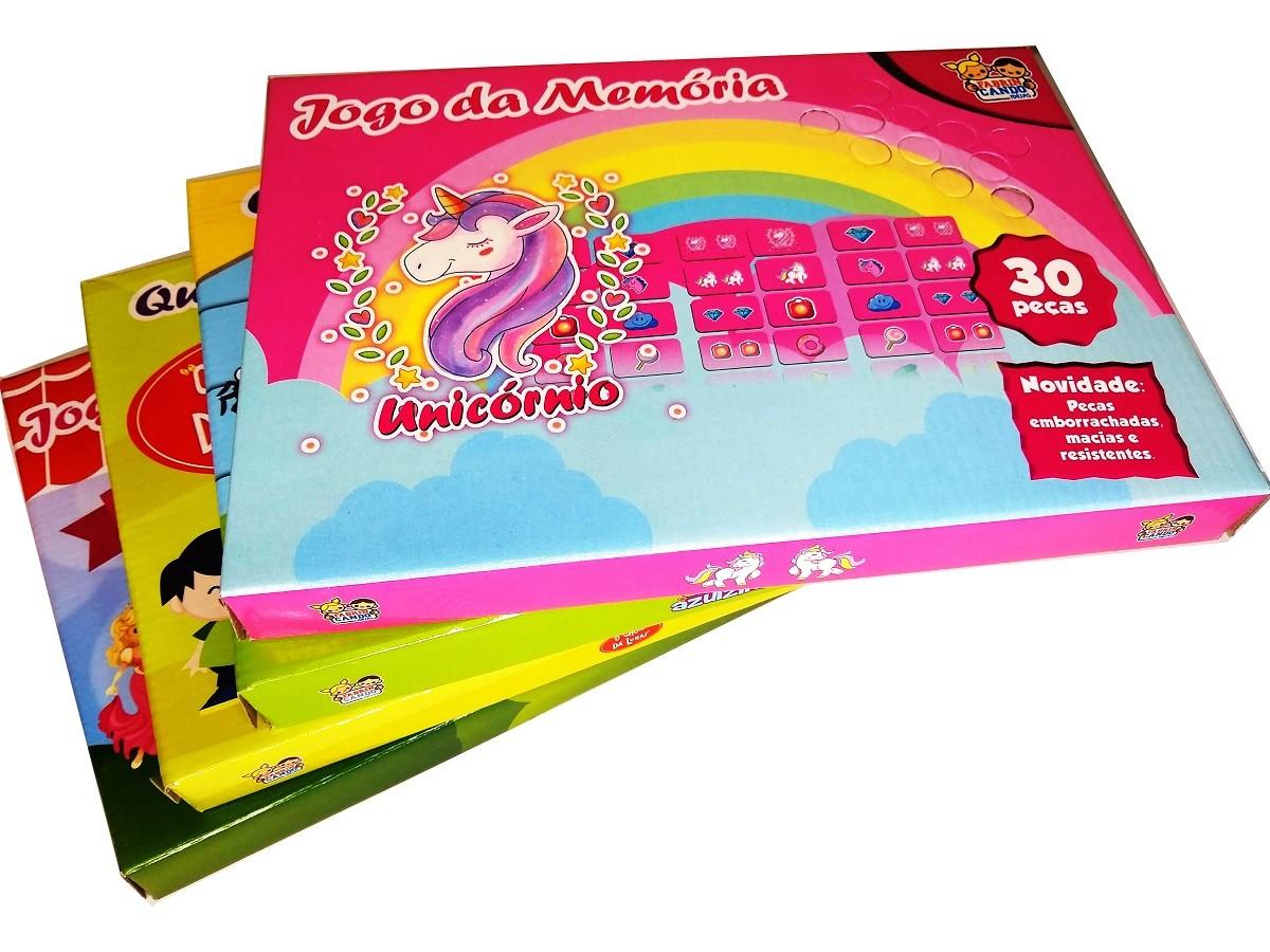 Kit 2x Jogo Da Memória 30 Peças E 2x Quebra-Cabeça Sortido 60 Peças - KIT-01F