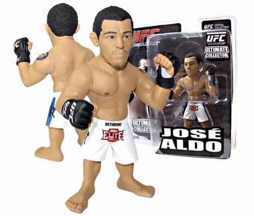Kit 3 Bonecos Ufc Ultimate Fighting Campeões Brasileiros - Spider Royce Gracie E Jose Aldo