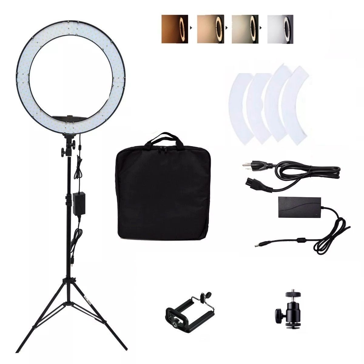 Kit 3 Iluminador Led Ring 18 Polegadas (46CM) 80W Bivolt - Ring 18""