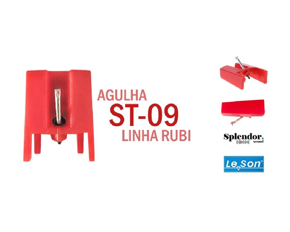 Kit 3x Agulha Leson ST-09 Rubi Original Para Toca Disco E Vitrola - ST-09R