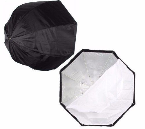 Kit Para Estúdio Fotográfico Softbox 120cm Universal + Soquete Simples E27 + Adaptador Para SpeedLight + Tripé 2 Metros St803