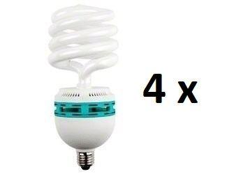 Kit 4 Lampada Para Foto Filmagem 45W 5500k - 110v
