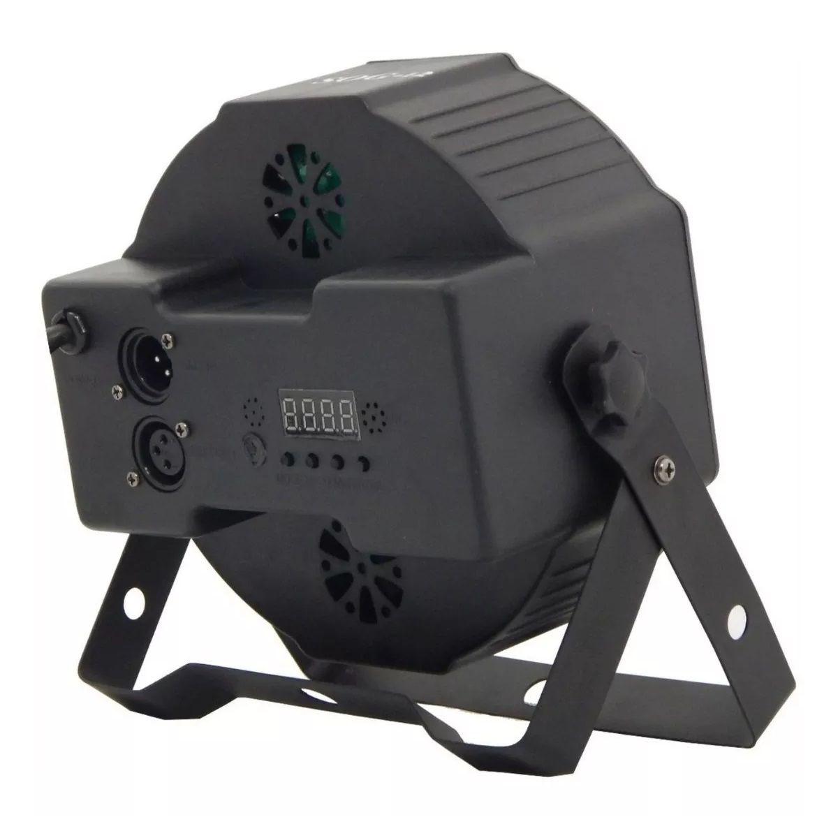 Kit Canhão Luz 18 LEDs + Strobo 12 LEDs RGB + Mini Moving Head Bola Maluca - 18LEDSLIM+12LEDRGBR+HL-080