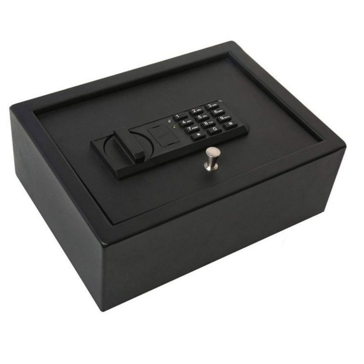 Kit Cofre Digital De Gaveta Com Senha Blindado Porta Dólar Primícias Ou Arma De Fogo 2 Chaves De Emergência Segurança - Ivation IVA01