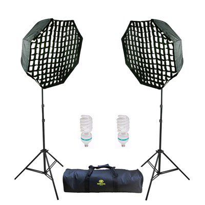 Kit De Iluminação De Estudio Fotografico - Ágata 3 Octagonal 110v