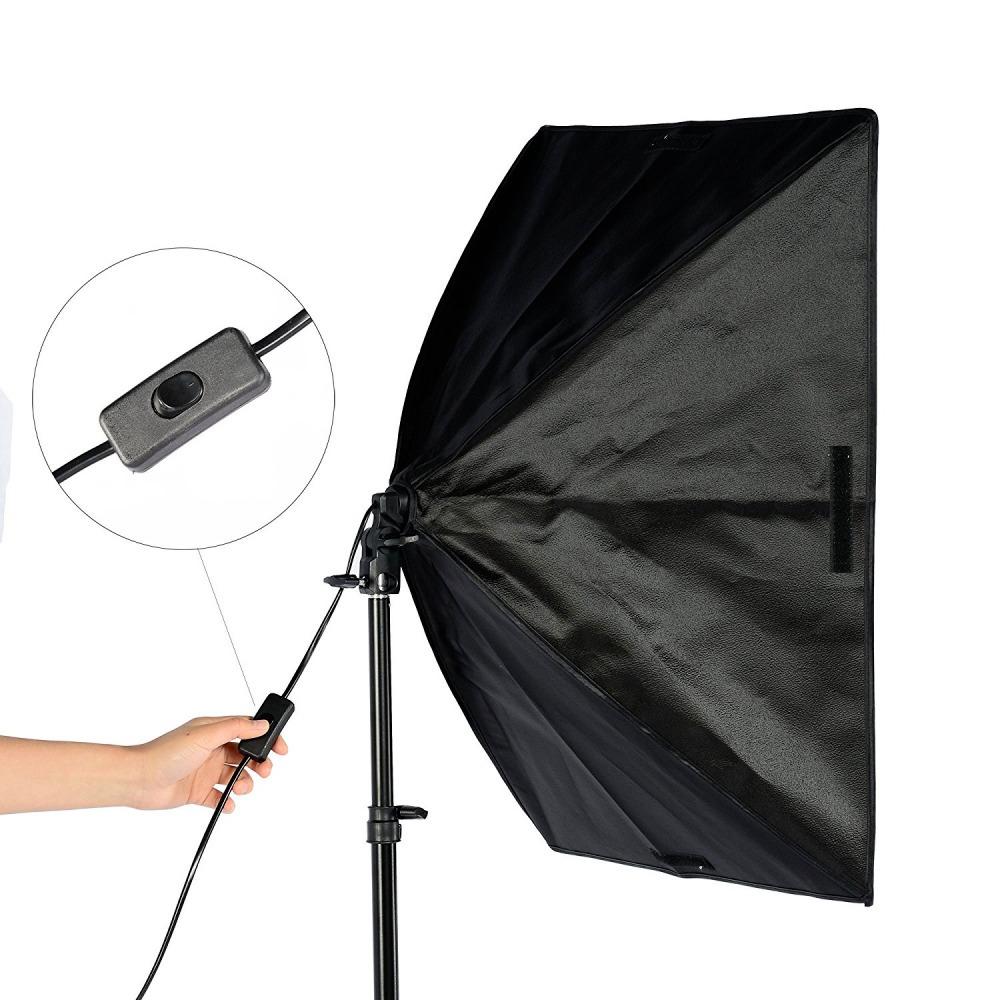Kit Iluminação de Estúdio Completo Duplo 50X70 Com 2 Lâmpadas de Led 105W - SOFT400