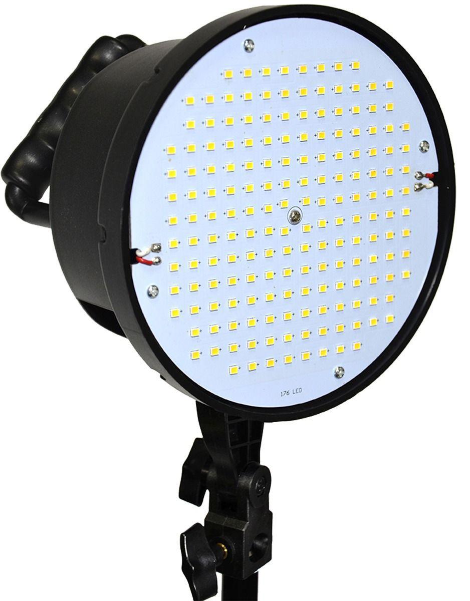Kit de Iluminação LED600W + Tecido Chroma Key Branco + Suporte Para Fundo Infinito Móvel - YS-300