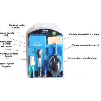 Kit De Limpeza Easy Para Câmeras E Acessórios 8X1 - EA-7106