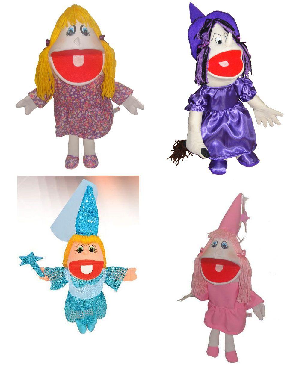 Kit Fantoches Jodane Fada Frozen Bruxa Menina