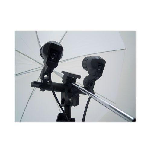 Kit Youtuber De iluminação E Estúdio Com 2 Soquetes Duplo E27 + 2 Sombrinhas Difusoras Branca + 2 Tripé 2M St-803