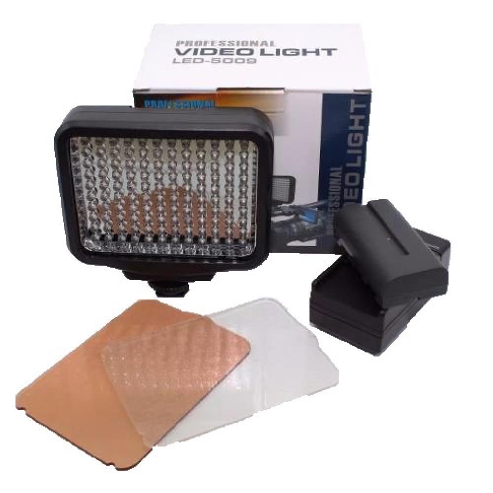 Kit Iluminador Professional Video Light Com Bateria E Carregador - LED-5009