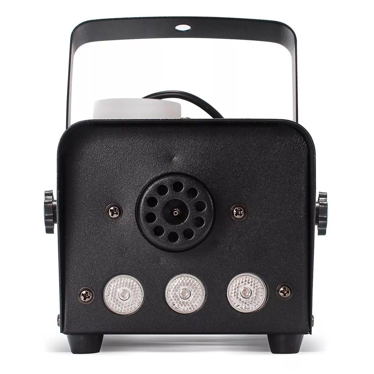 Kit Luz Canhão Led Par 64 RGB 36 Leds + Máquina de Fumaça 600W 3 Leds RGB - HL-36P+XH-600W