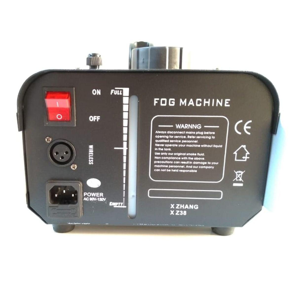 Kit Máquina de Fumaça 1200W 6 Leds RGB + 2x Líquido 1L - XH-1200W+MY1012