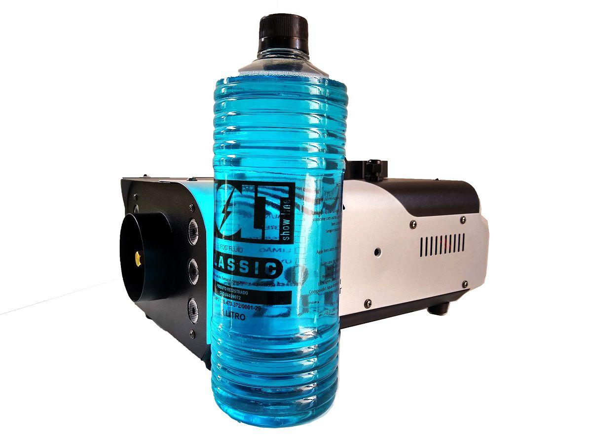 Kit Máquina de Fumaça 1200W 6 Leds RGB + 2x Líquidos de 1L - XH-1200W+MY1012 - FULLFILMENT VENDAS