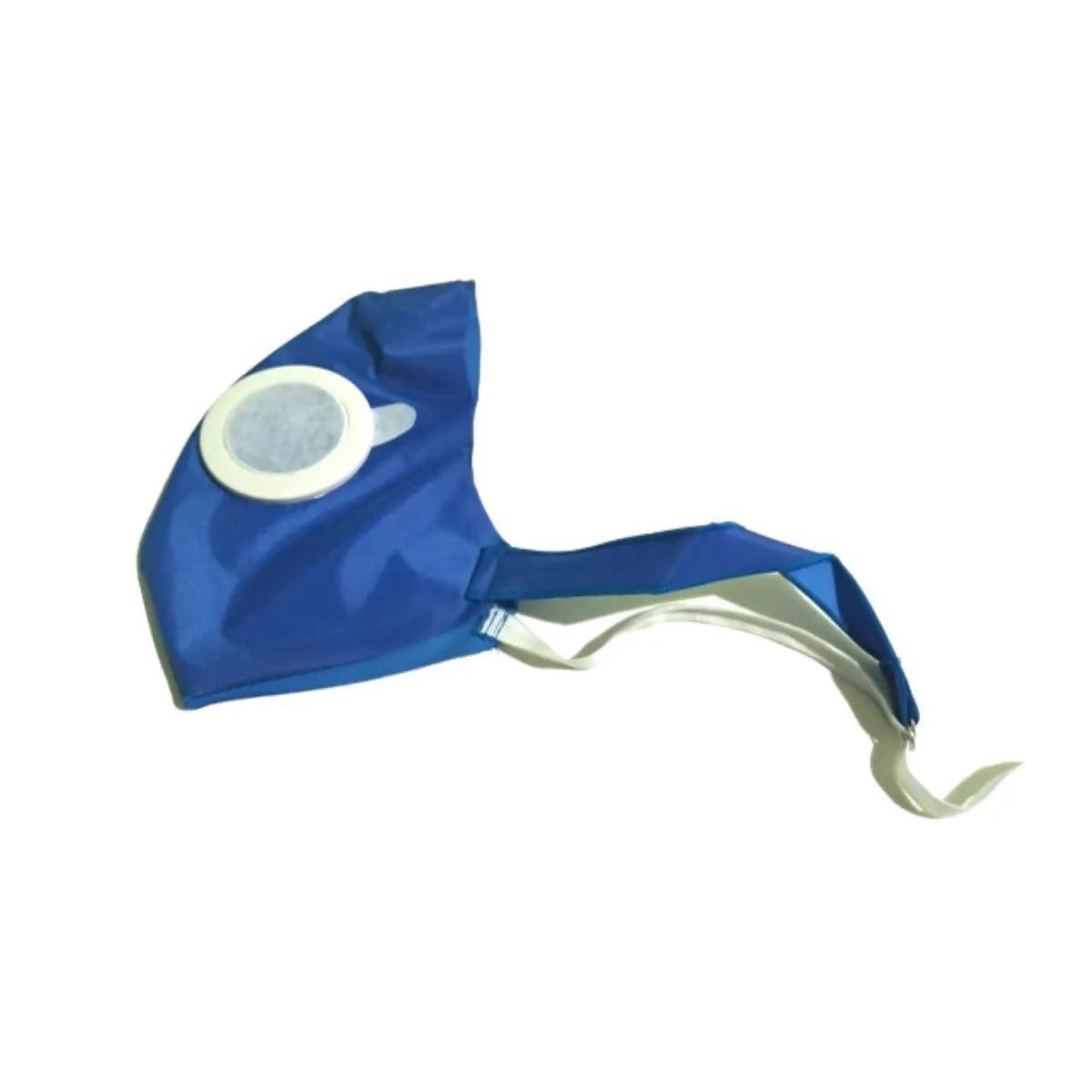 Kit Máscara Protetiva Ajustável Regulável Azul E Rosa Com 150 Filtros - 150 REFIL PRETO
