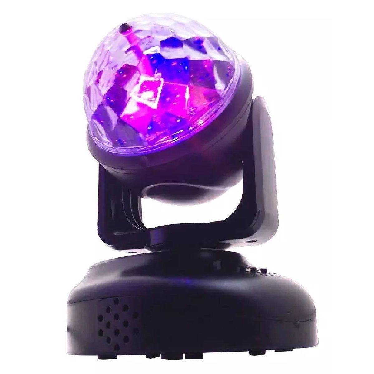 Kit Mini Moving Head RGB + Strobo 12 LEDs Branco Rítmico + Canhão Luz 18 LEDs - HL-080+12LEDBR+18LEDSLIM