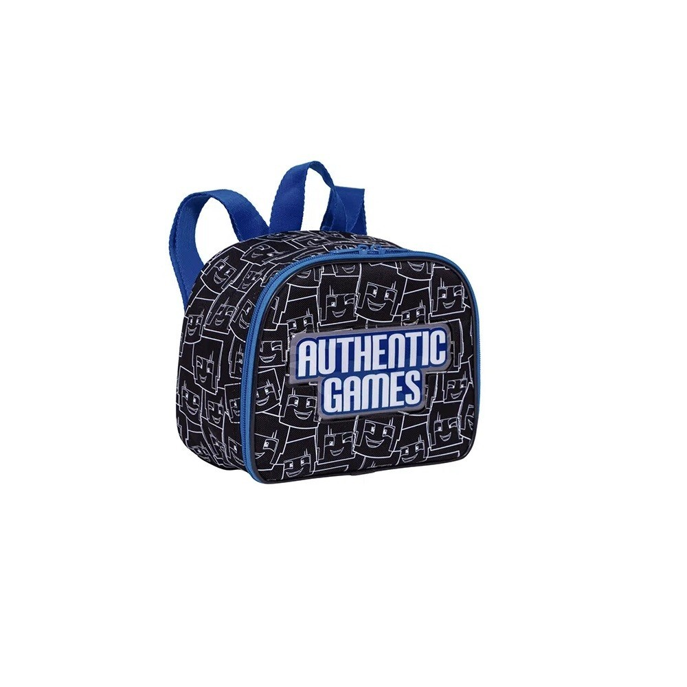 Kit Mochila Escolar G Authentic Games Com Rodinhas Com Lancheira P Authentic Games - 065763-00 + 065765-00