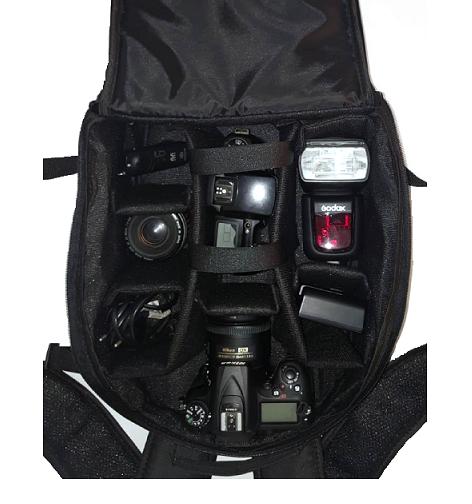 Kit Mochila Para Câmera + Tripé Telescópico Até 1,2m - POP+SL-2111H