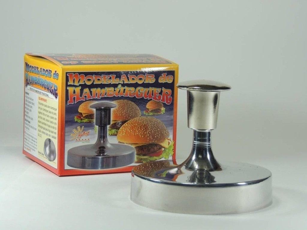 Kit De Cozinha Com Modelador de Hambúrguer 12,5cm + Abafador de Hambúrguer 15 cm