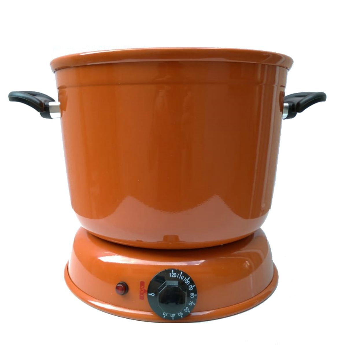 Kit Panela Derretedeira De Chocolate Elétrica Para Até 7kg Marrom 110V  + Picador e Triturador de Chocolate em Barra