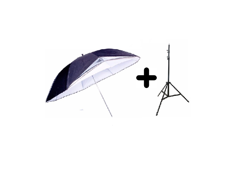Kit Para Estúdio Fotográfico Sombrinha Reversível + Tripé 2M St803