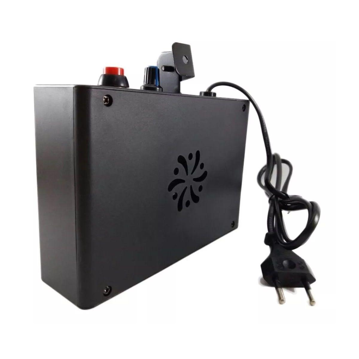 Kit Para Festa Luz 36 Leds 64 Rgb + Strobo Branco + Maquina De Fumaça 600W Com Fluido