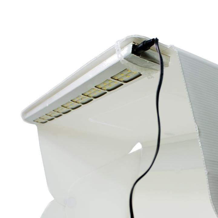 Kit Para Fotografar Mini Estúdio 56 Leds 60cm + Tripé Articulado Para Celular Universal