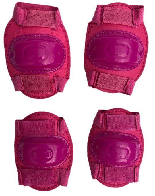 Kit Patinete Infantil Para Meninas Completo Com Proteção Rosa - Cp02 + PT-53RO