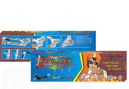 Kit Patinete Infantil Preto + Kit Proteção Preto - TR-1015+CP02P