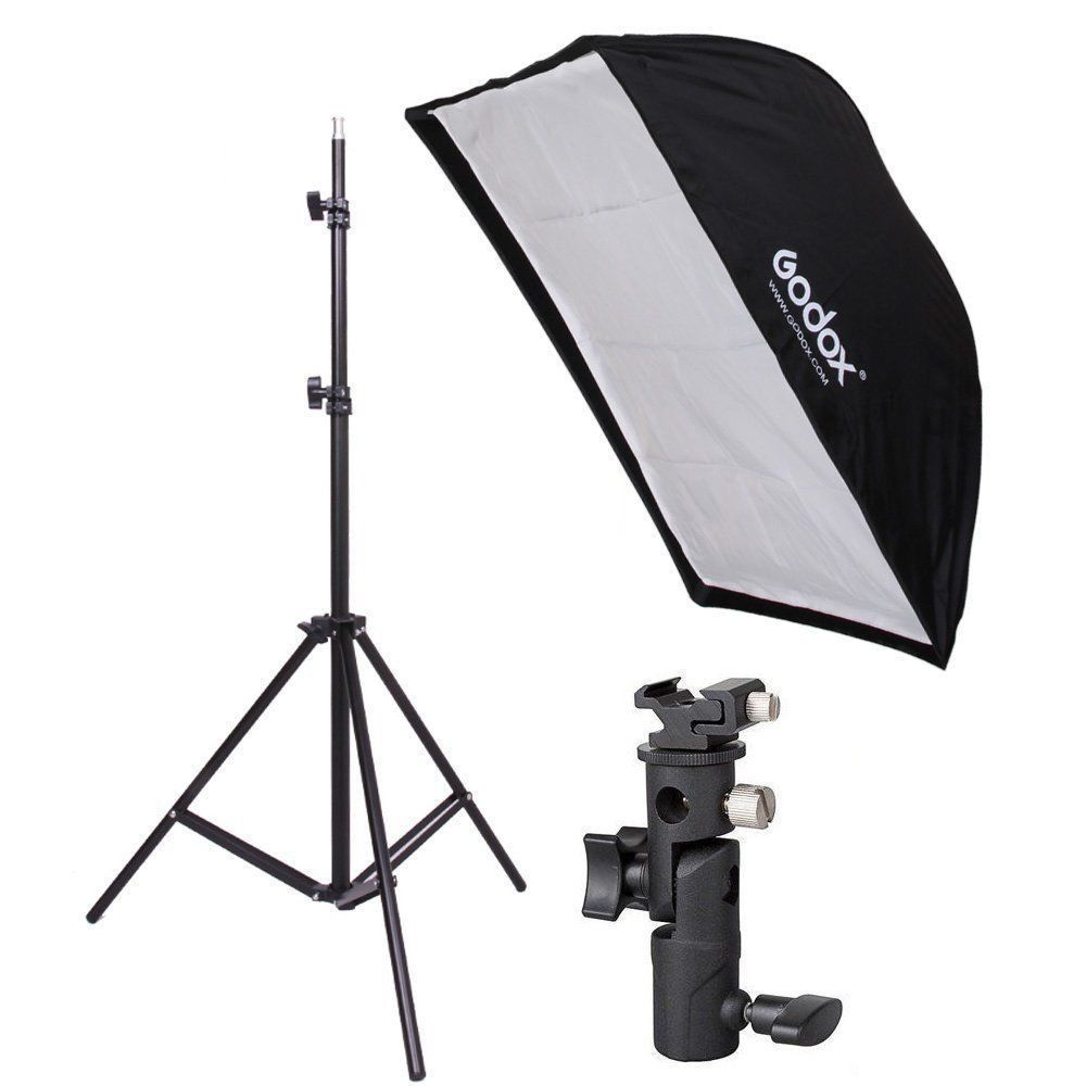 Kit Softbox 60x90 + Tripé 2 Metros + Adaptador Speedlight B