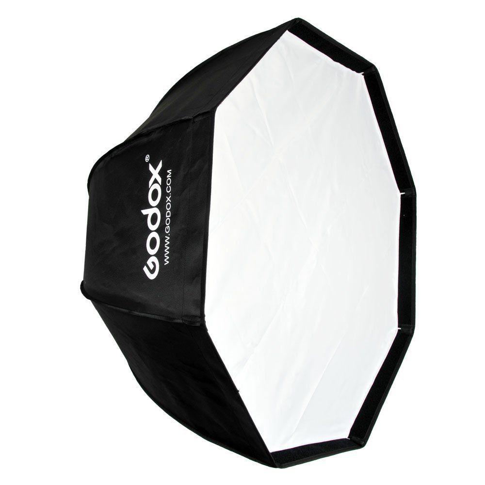 Kit Softbox Octabox 80cm Universal Tipo Sombrinha + Suporte Adaptador - SB1010-80+YA421