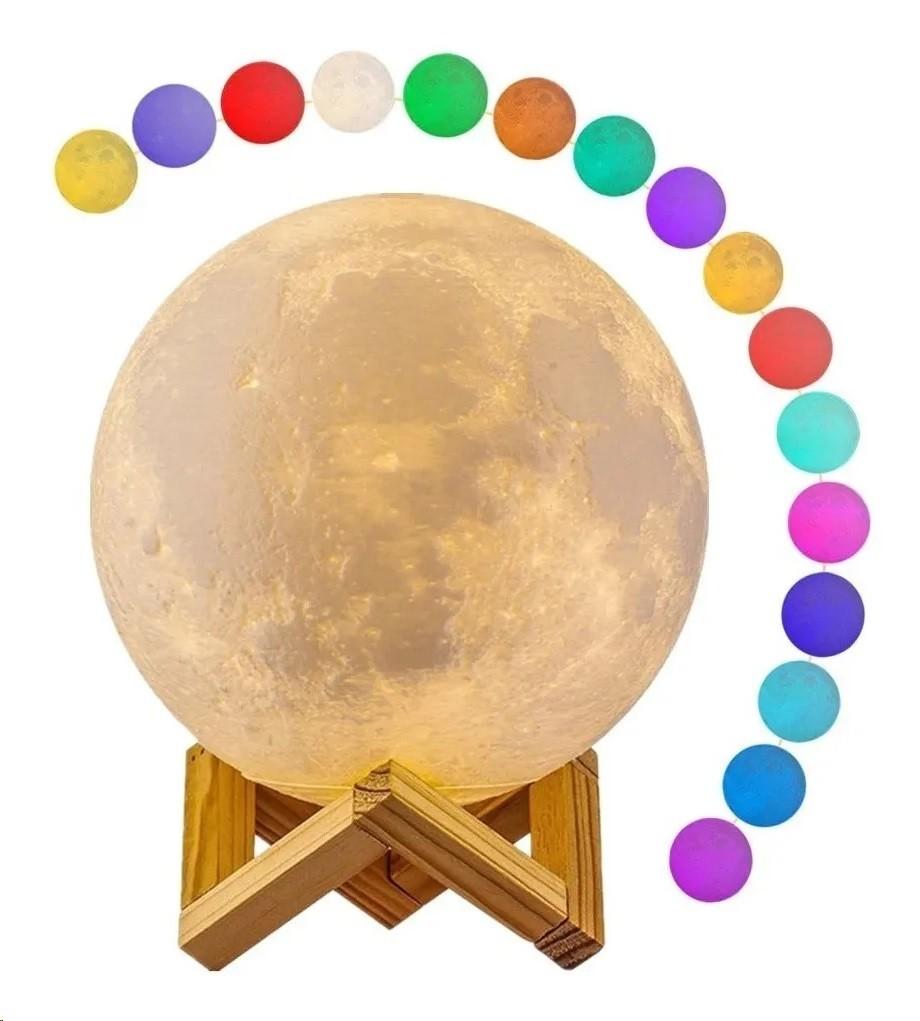 Luminária Lua Cheia Luz Led E Umidificador - MX-08