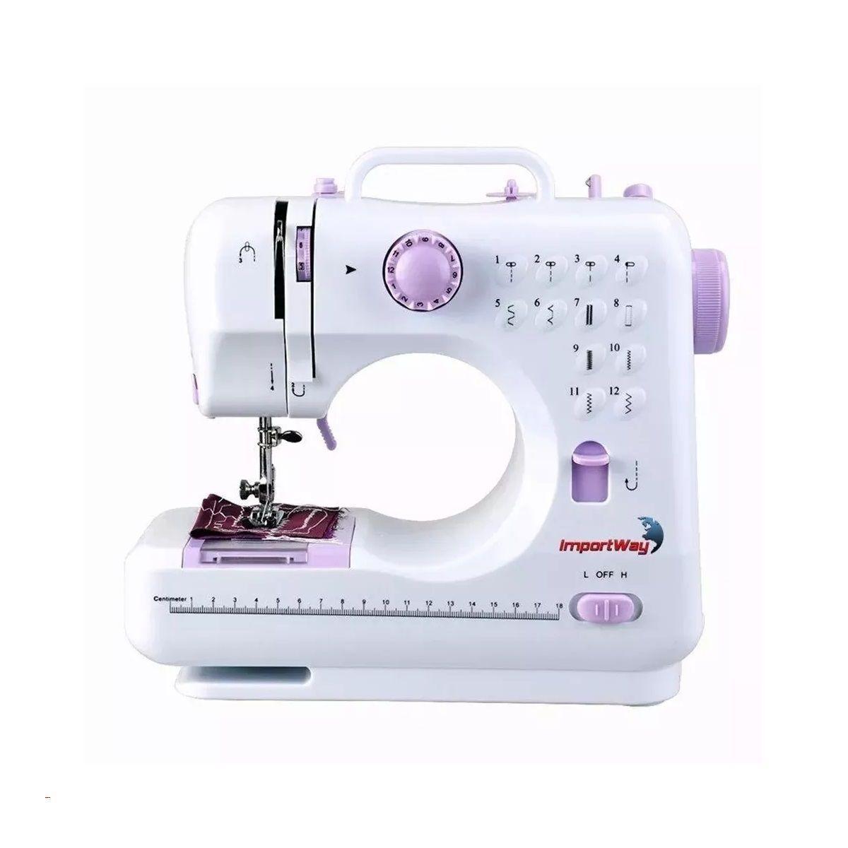 Máquina de Costura Multifuncional Portátil Bivolt Importway - IWMC505