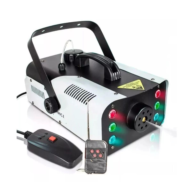 Máquina de Fumaça 1200W Efeito Led 6 RGB Controle Remoto - XH-1200W - KIT FULLFILMENT VENDAS