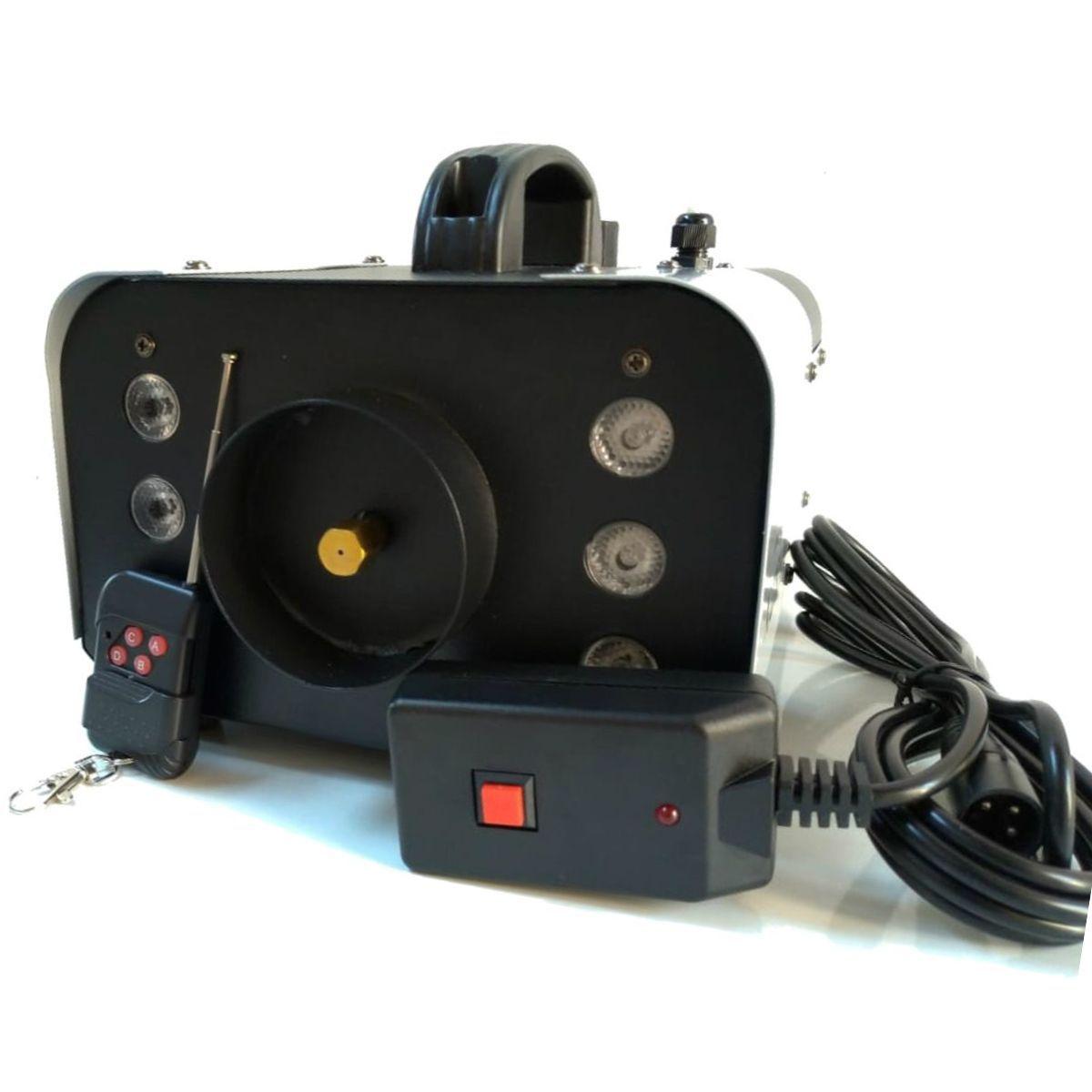 Máquina de Fumaça 1200W Efeito Led 6 RGB Controle Remoto - XH-1200W - KIT FULLFILMENT