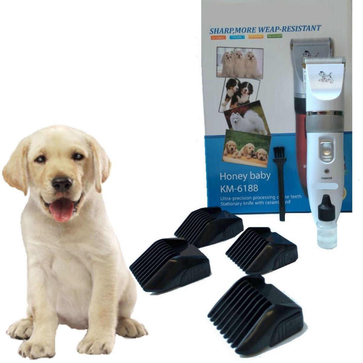Maquina Para Tosa Pet Recarregável - KM-6188 COM VARIAÇÃO
