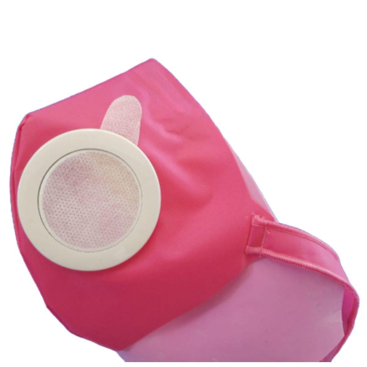 Kit Máscara Protetiva Ajustável Regulável Azul E Rosa Com 100 Filtros - 100 REFIL ROSA