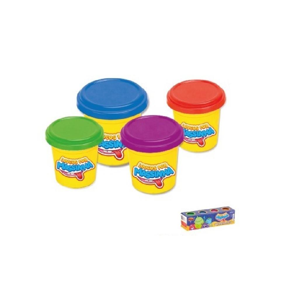 Massinha De Modelar Para Crianças 4 Cores - ZP00259