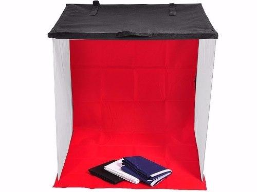 Mini Estúdio Tenda Difusor 60cm Portátil + Iluminação 4 Fundos - 220v