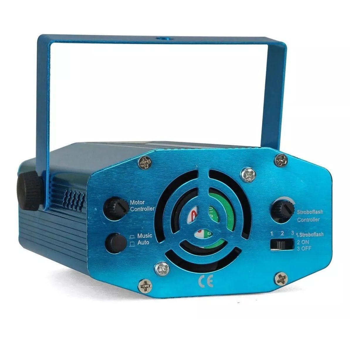 Mini Laser Projetor Holográfico Stage Lighting Azul - SD-09